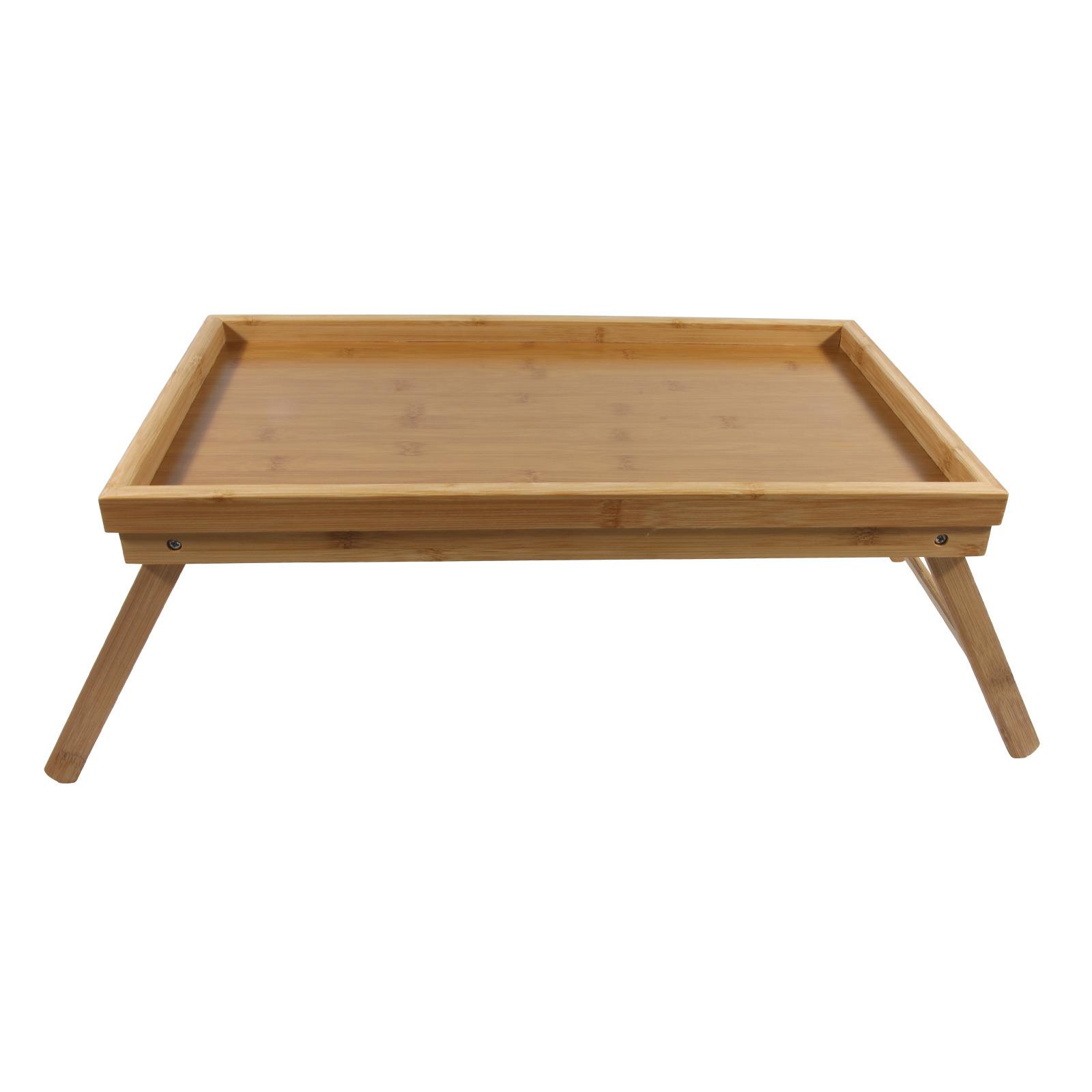 1x bamboe ontbijt/bedtafelen/tafeltjes 50 x 30 cm